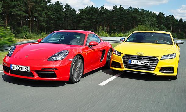 Audi TTS und Porsche 718 Cayman im Test