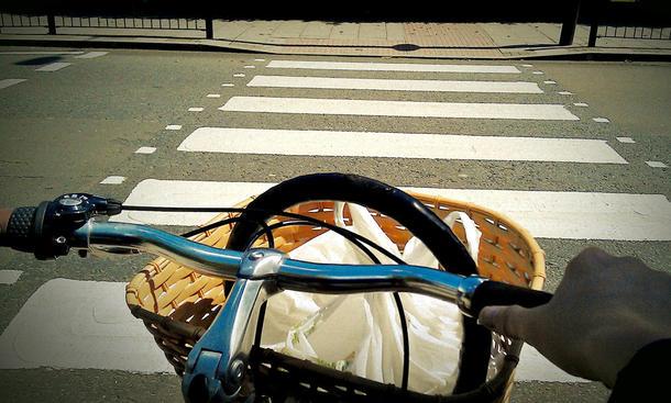 Rechte und Pflichten Radfahrern am Zebrastreifen