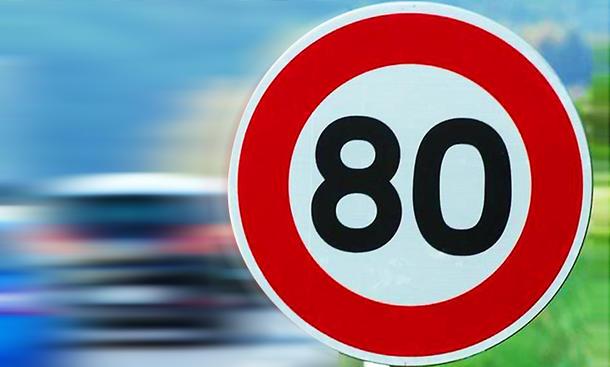 Tempo 80 in Frankreich