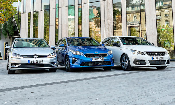 VW Golf/Kia Ceed/Peugeot 308