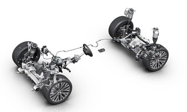 Fahrwerk des Audi A8 (2017)