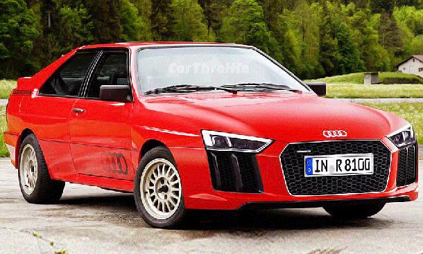 Audi quattro mit R8-Grill