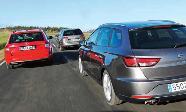 Seat Leon ST vs. VW Golf Variant & Skoda Octavia Combi