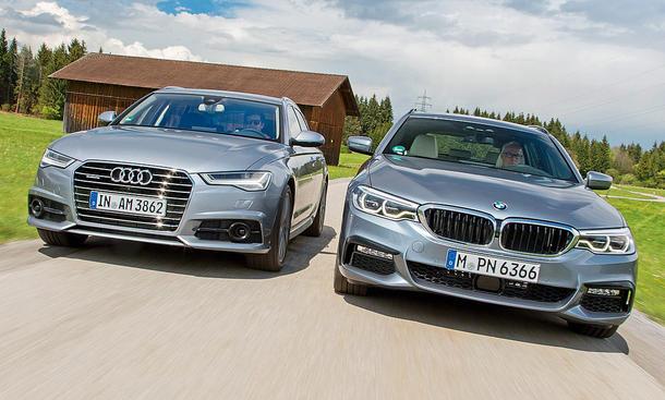 Audi A6 Avant 3 0 Tdi Quattro Bmw 530d Touring Test Autozeitung De