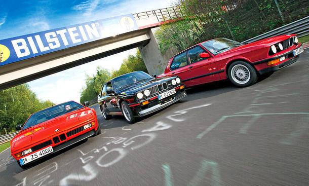 BMW M1, M3 und M5