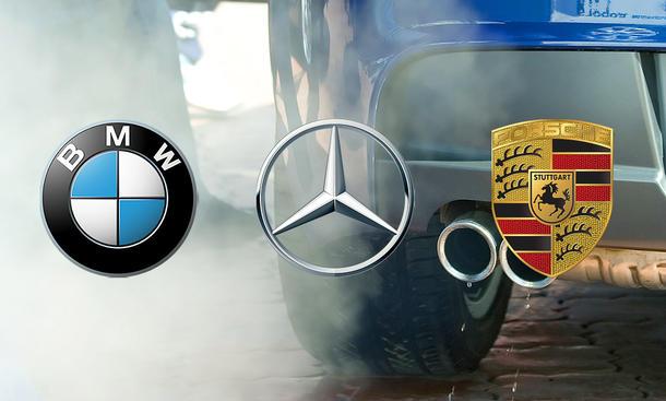BMW, Porsche und Mercedes droht Millionenstrafe