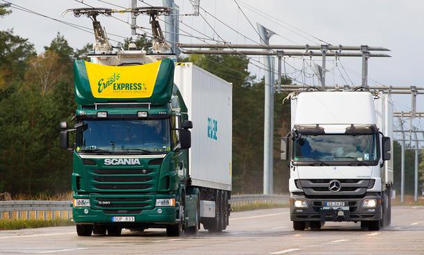 Siemens baut E-Lkw-Teststrecke
