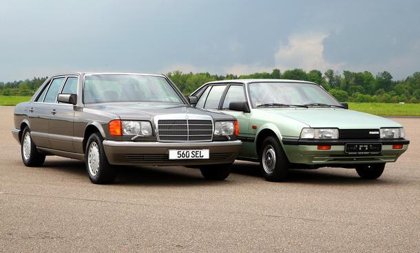 Mercedes 560 SEL und Mazda 626 LX - Meilensteine aus 40 Jahre AUTO ZEITUNG