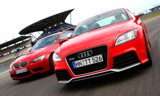 Vergleichstest Sportwagen: BMW M3 Coupé gegen Audi TT RS