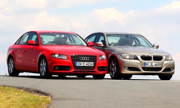 Vergleichstest Mittelklasse: Audi A4 TDI e gegen BMW 318d
