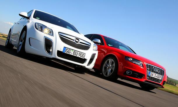 Vergleichstest Sportlimousinen: Audi S4 3.0 TFSI quattro gegen Opel Insigina OPC