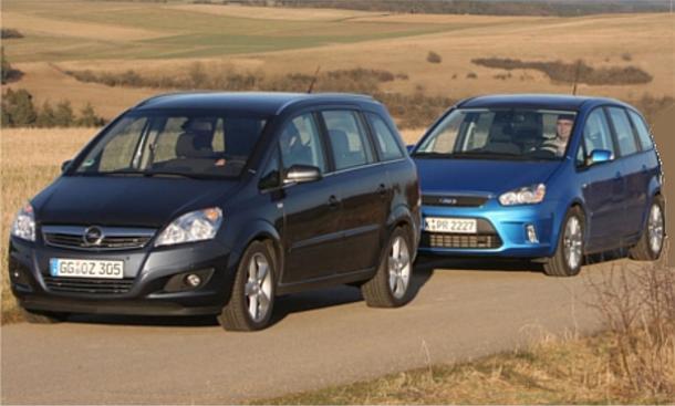 Vergleichstest Kompakt-Vans: Ford C-MAX 2.0 TDCi und Opel Zafira 1.7 CDTI