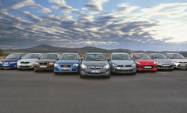 Vergleichstest: Der neue Opel Astra gegen acht Konkurrenten in der Kompaktklasse