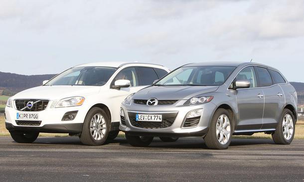 Diesel-SUV im Vergleich: Mazda CX-7 und Volvo XC60