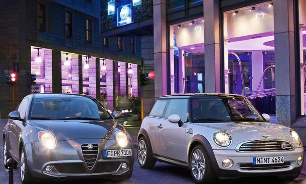 Alfa Romeo Mito und Mini Cooper im Vegleichstest