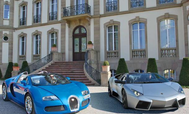 Exklusive Supersportwagen: Bugatti Grand Sport und Lamborghini Reventón Roadster