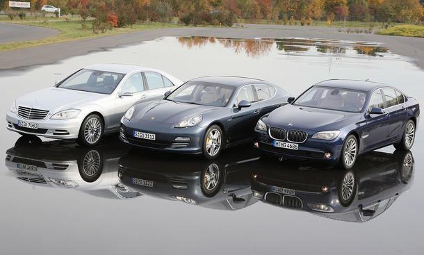 Feine Luxusliner Mit Allradantrieb Im Vergleichstest BMW 750i XDrive