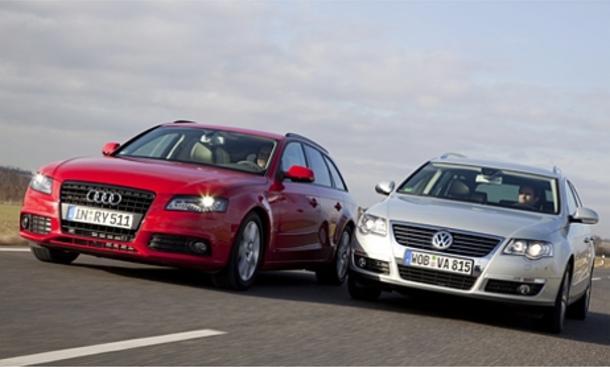 Spar-Diesel: Audi A4 Avant 2.0 TDIe und VW Passat Variant 2.0 TDI BlueMotion Technology im Vergleichstest