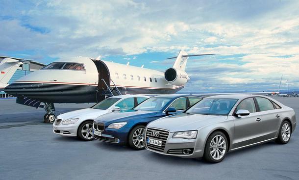 German Kings: Die Luxusliner Audi A8 4.2 FSI quattro, BMW 750i xDrive und Mercedes S 500 4MATIC im Vergleichstest