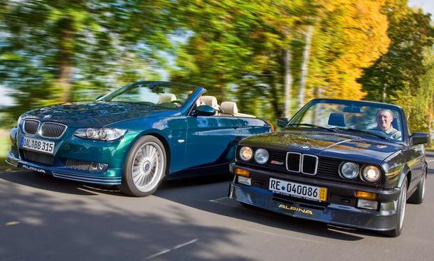 Alpina B3 Biturbo und B3 2.7 Cabriolet: Bereits seit Mitte der 80er-Jahre interpretiert ALPINA das BMW 3er-Cabrio neu