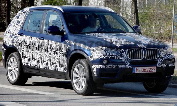 Erlkönig: Das Kompakt-SUV BMW X3 soll schon Ende 2010 auf den Markt kommen