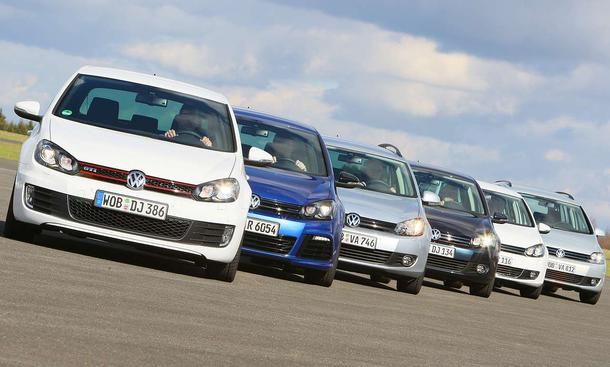 Die große VW Golf Kaufberatung: BlueMotion, GTD, Variant, TSI, GTI, R, 4Motion, TDI und Plus