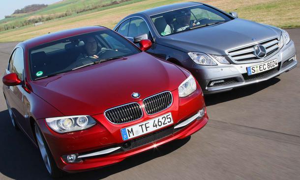 BMW 335i Coupé und Mercedes E 350 CGI BlueEFFICIENCY Coupé im Vergleichstest