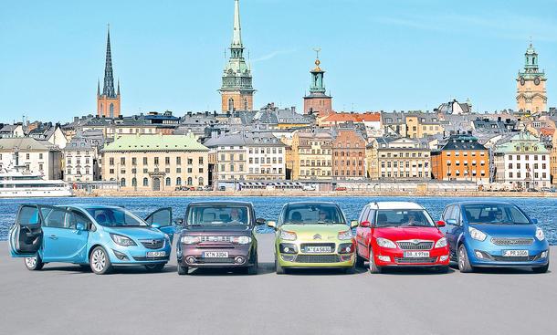 Der neue Opel Meriva im Test gegen die Konkurrenz von Citroën, Kia, Nissan und Skoda