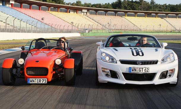 Radikale Roadster auf dem Hockenheimring: Irmscher 7 Turbo und GT i40