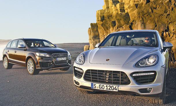 Audi Q7 V12 TDI und Porsche Cayenne Turbo