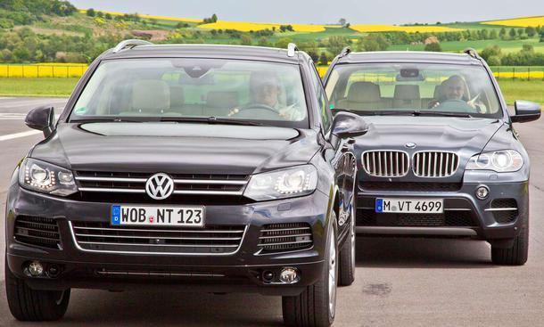 Diesel-SUV im Vergleichstest: BMW X5 xDrive40d gegen VW Touareg V8 TDI