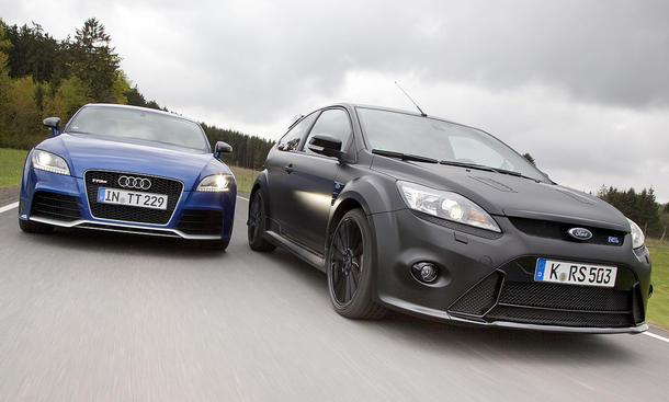 Kompaktsportler: Audi TT RS gegen Ford Focus RS500 im Vergleich