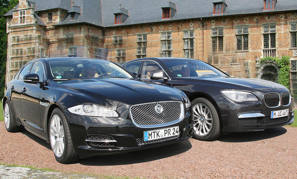 Luxusklasse Jaguar Xj Gegen Bmw 7er Im Vergleichstest