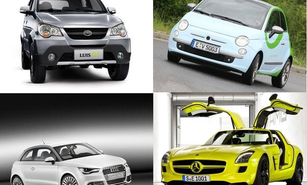 Elektroauto-Übersicht 2010: Alle Modelle und Studien von Audi, BMW, Mercedes, Opel, Smart und VW