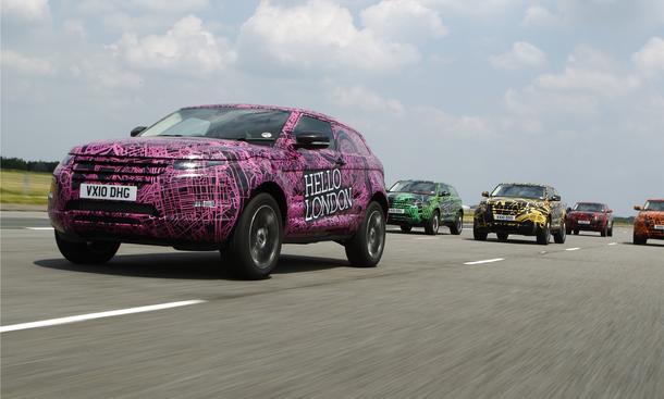 Range Rover Evoque: Mit dem neuen Baby-Range darf schon ab Sommer 2011 gerechnet werden