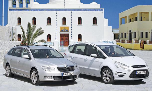 Ford S-Max 2.0 EcoBoost und Skoda Superb Combi 3.6 V6 4x4 im Vergleichstest