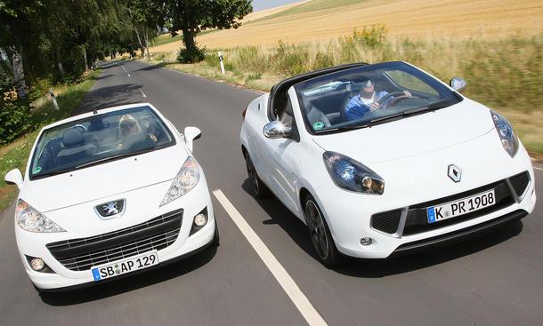 Peugeot 207 CC 120 VTi und Renault Wind TCe 100 im Vergleichstest