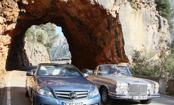 Im AUTO ZEITUNG Vergleich: Mercedes Cabrio alt und neu