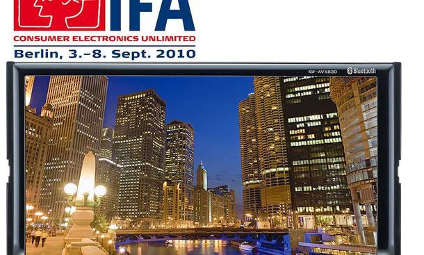 Die IFA in Berlin beginnt am 3. September 2010. Eine Neuheit: Das JVC Siebenzoll-Display für Doppel-DIN-Schächte