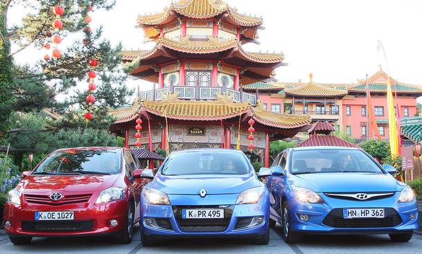 Hyundai i30, Renault Mégane und Toyota Auris im Vergleichstest der Kompaktklasse