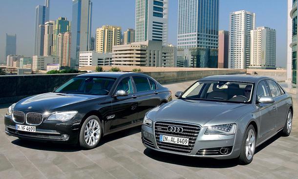 Luxus-Limousinen im XL-Format: Audi A8 L 4.2 FSI quattro gegen BMW 750 Li im Vergleichstest