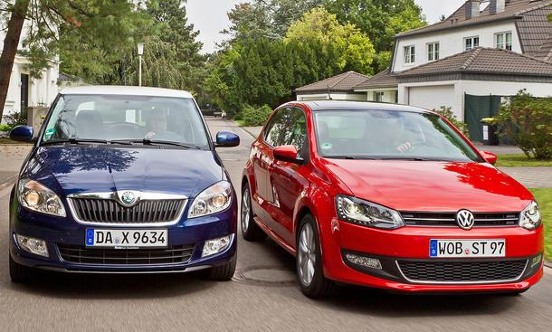 Markenvergleich: Skoda Fabia 1.2 TSI und VW Polo 1.2 TSI im Test