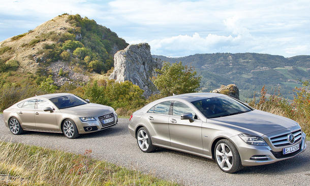 Oberklasse-Coupés im Vergleich: Audi A7 Sportback 3.0 TDI quattro und Mercedes CLS 350 CDI BlueEFFICIENCY