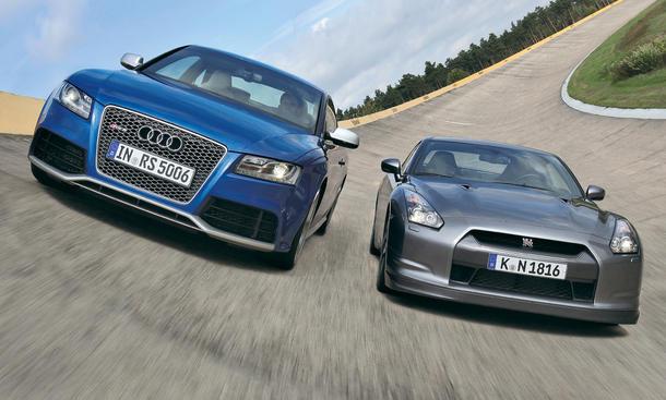 Sportwagen im Vergleichstest: Audi RS 5 gegen Nissan GT-R