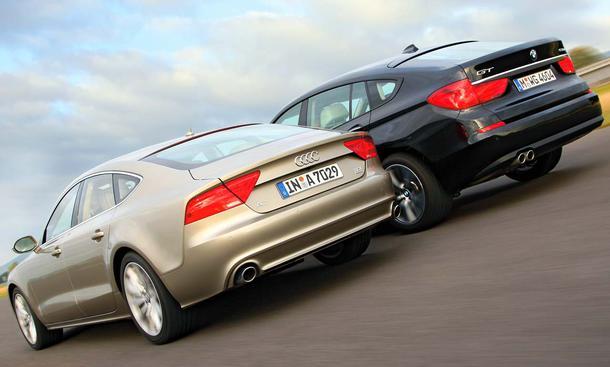 Audi A7 Sportback 3.0 TDI quattro und BMW 530d GT im Vergleichstest der Oberklasse