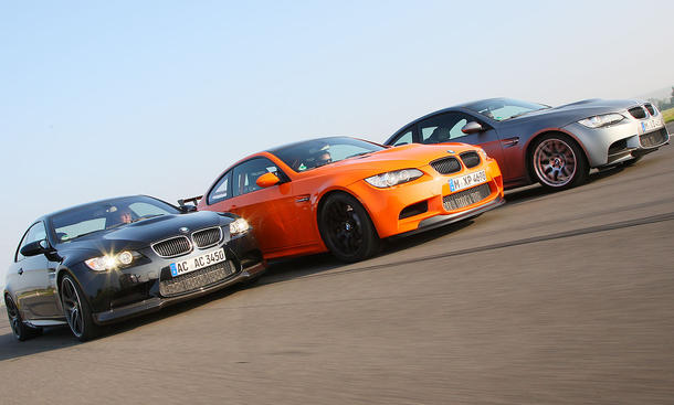 BMW M3 Competition gegen M3 GTS und AC Schnitzer M3 im Tracktest der AUTO ZEITUNG