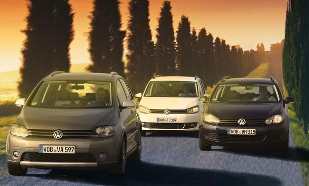 Drei VW im AUTO ZEITUNG Test: CrossGolf, Touran und Golf Variant