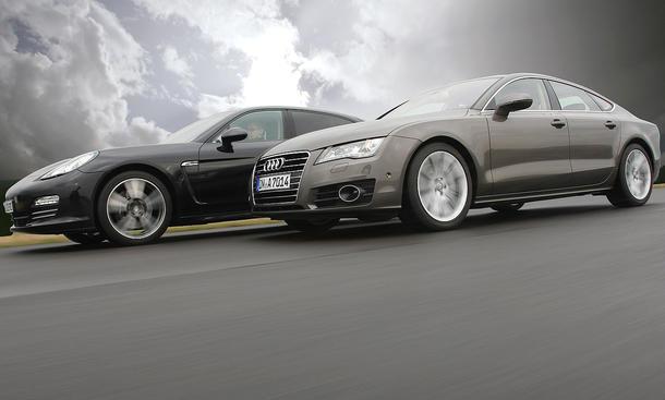 Audi A7 und Porsche Panamera im Test der AUTO ZEITUNG