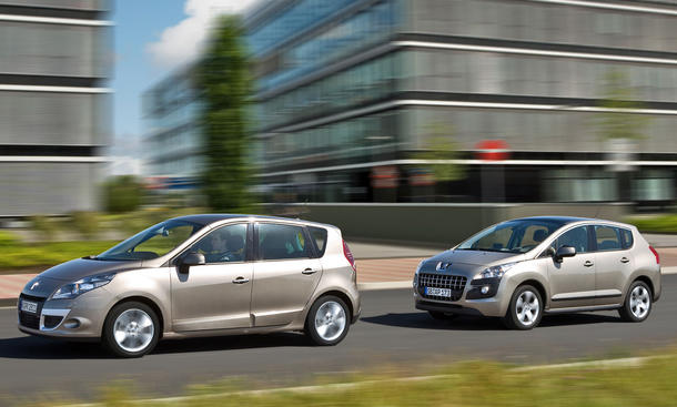 Kompaktvans im Vergleichstest: Peugeot 3008 HDi FAP 150 und Renault Scénic dCi 130 FAP