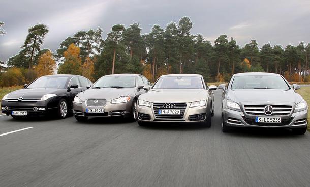 Oberklasse im Test der AUTO ZEITUNG: Audi, Citroen, Jaguar, Mercedes